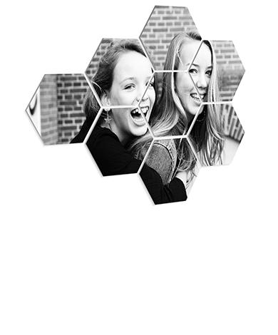 Foto über mehrere Hexagone
