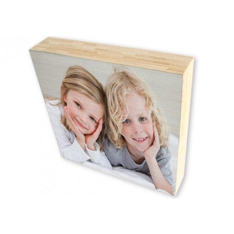 Foto auf Holzblock