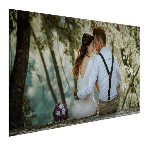 Foto op aluminium 100x100 cm