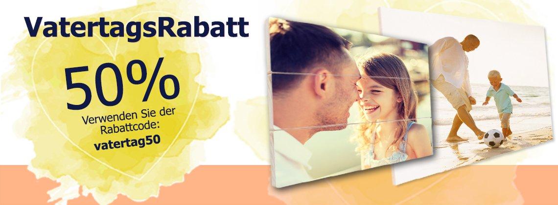 Vatertag header 50% Rabatt!