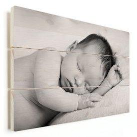 Babyfoto auf Holz