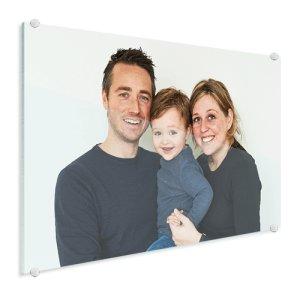 Babyfoto auf Glas