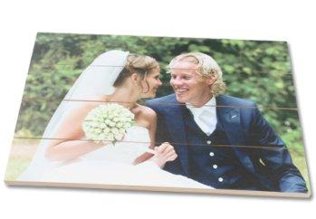 Hochzeitsfoto auf Holz
