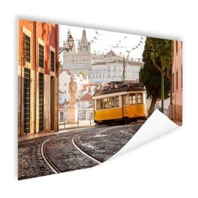 Strassenbahn Lissabon Poster