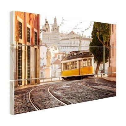 Strassenbahn Lissabon Holz