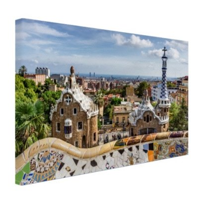 Parc Guell in barcelona leinwand