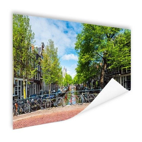Amsterdam Brücke mit Fahrrädern Gracht Poster