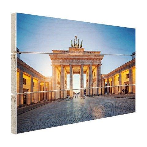 Brandenburger Tor bei Sonnenuntergang Holz