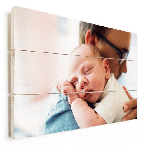 Fichtenholz Papa Baby in Farbe