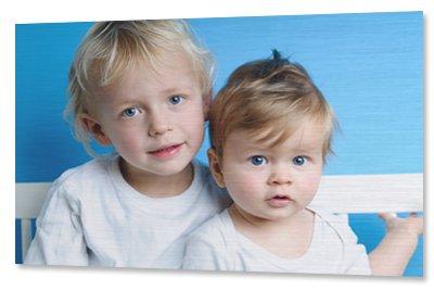 Kinderfoto auf Aluminium gedruckt