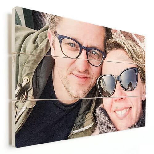Foto auf Holz Geschenk