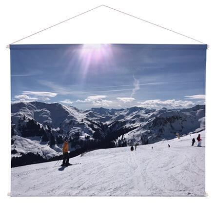 Foto auf Textilposter Winter Skigebiet