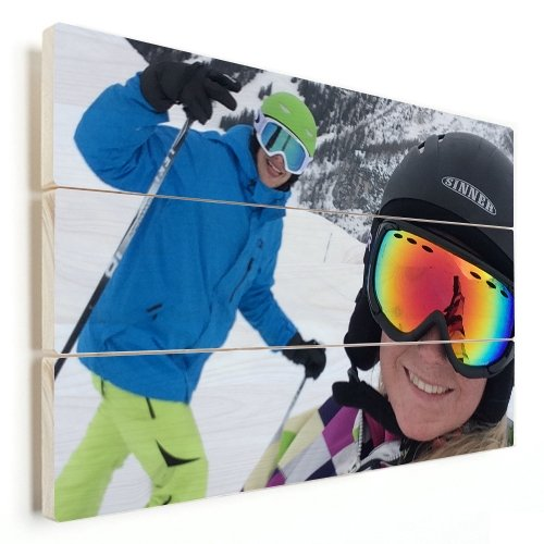Foto Auf Holz Ski