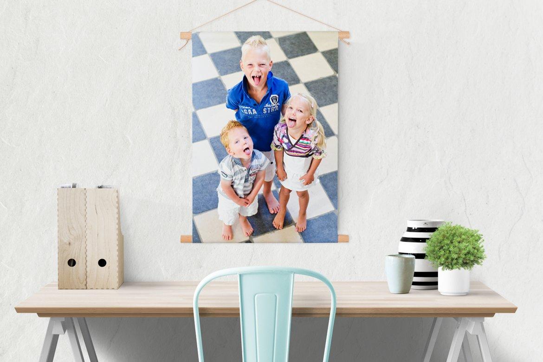 Textilposter mit Stäben Wanddeko Lieblingsfoto.de