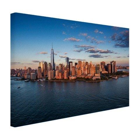 Luftaufnahme Skyline New York Leinwand