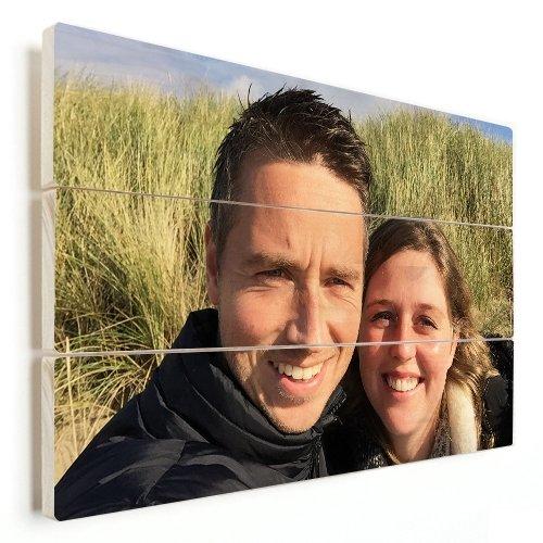 Paar Foto Holzdruck