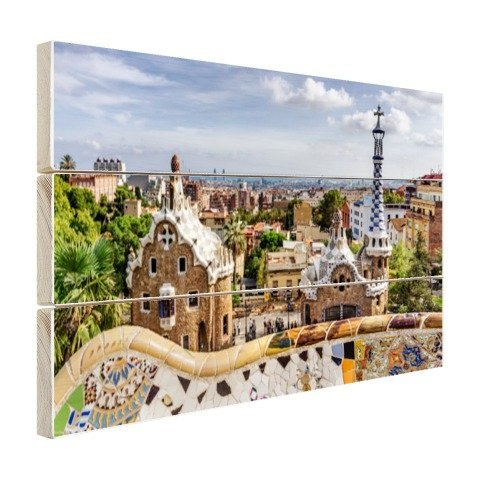 Parc Guell in barcelona holz