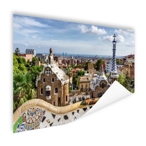 Parc Guell in barcelona poster