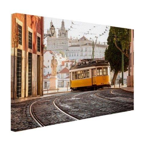 Strassenbahn Lissabon Leinwand