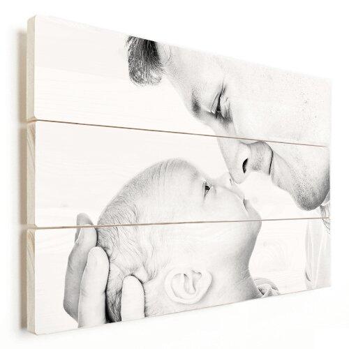 Foto auf Holz mit Baby