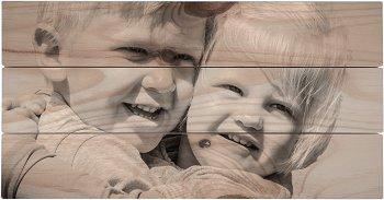 Foto auf Holz Astlöcher im Gesicht