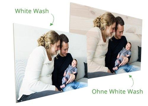 Foto auf Holz mit Whitewash