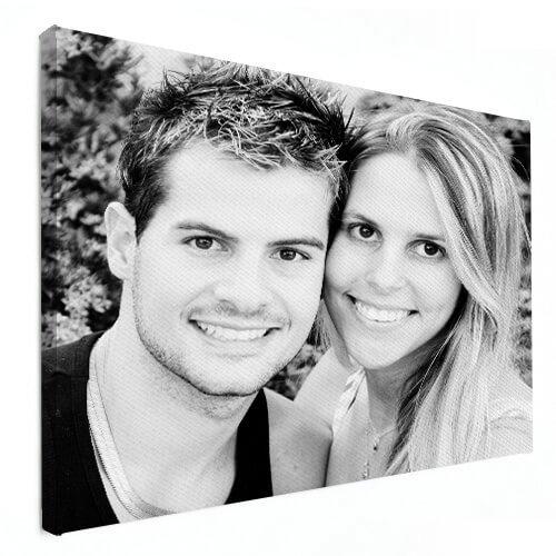 Foto auf Leinwand schwarz weiss Paar