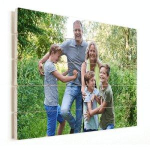 Foto op hout planken