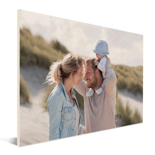Foto auf Holzplatte