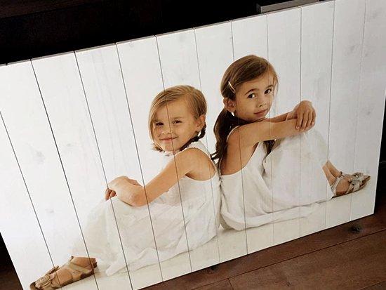 Kinderfoto auf Holz