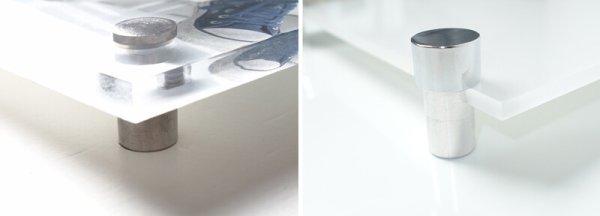 Aufhangsysteme Foto auf Glas