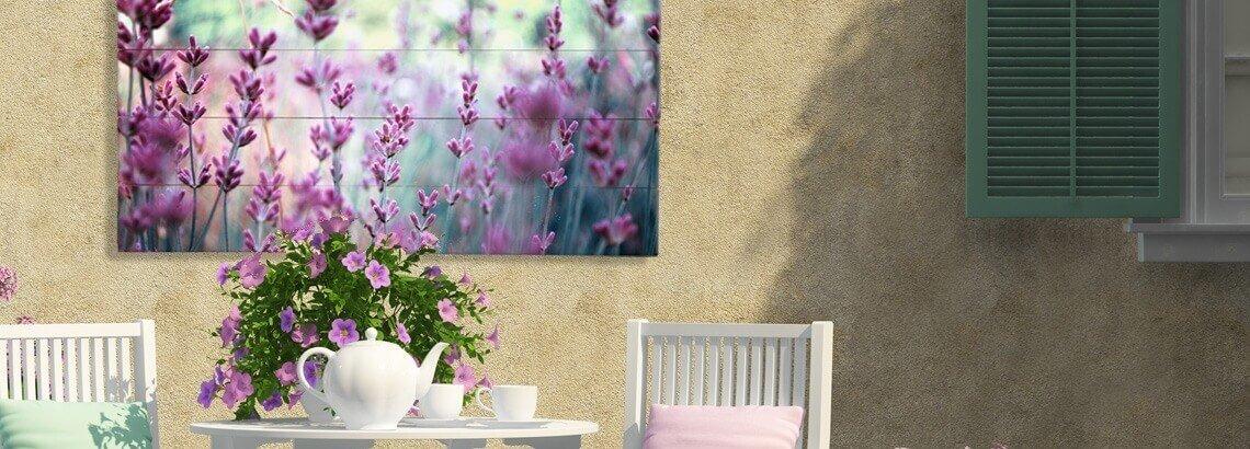 Foto auf Holz für draußen
