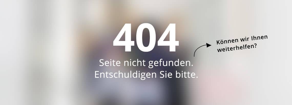 Seite nicht gefunden 404