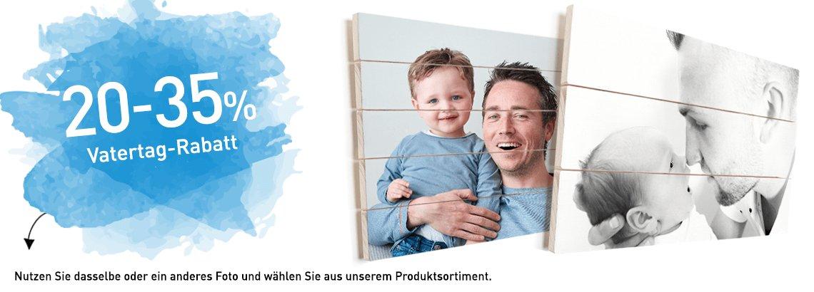 Foto auf Holz Vatertag Rabatt