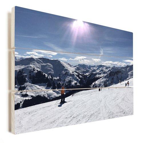 Foto auf Holz Wintersport