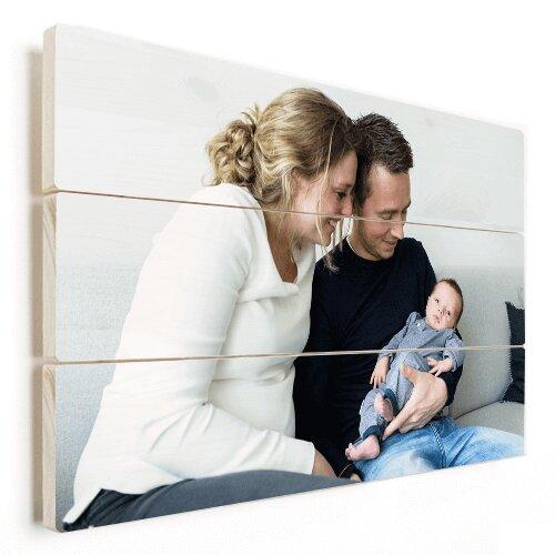 Foto auf Holz Familien