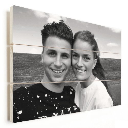 Foto auf Holz mit Pärchen