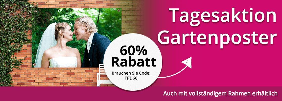 Foto auf Gartenposter Tagesaktion 60% Rabatt