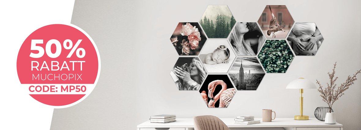 Muttertagrabatt Hexagons