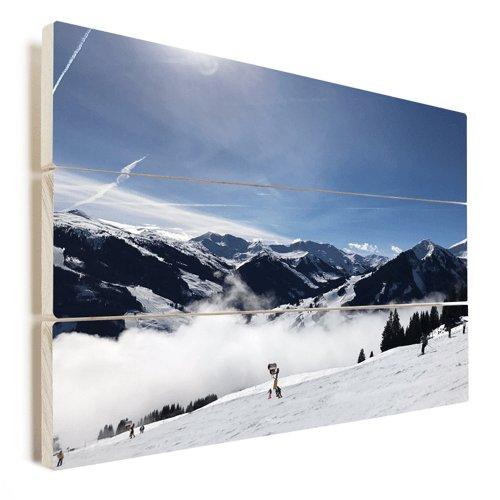 Foto auf Holz Winter Schnee